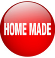 home made red round gel isolated push button vector image vector image