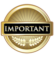 Important Gold Label vector image vector image