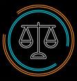 justice balance vector image