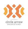 Logo Design Letter Arrow Icon Symbol Abstract vector image vector image