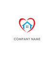 love home real estate logo vector image