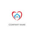 love home real estate logo vector image vector image