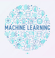 machine learning artificial intelligence concept vector image vector image