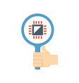 microchip testing icon vector image