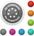 My homepage award vector image vector image