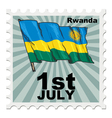 post stamp of national day of Rwanda vector image
