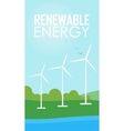 Renewable energy Wind generator turbines vector image
