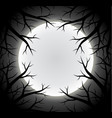scary full moon background vector image