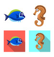 sea and animal sign vector image