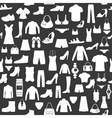 seamless background with clothing vector image vector image
