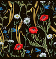 seamless pattern with botanical flowers vector image vector image