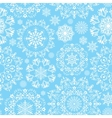 seamless snow pattern vector image vector image