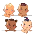 Set of cute little baby girls vector image vector image
