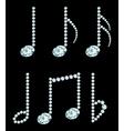 Set of diamond note symbols vector image