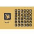 Set of music simple icons vector image