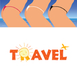 sign of travel with woman ass vector image