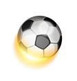 soccer sport ball in fire vector image vector image