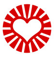 sun heart icon simple style vector image