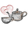 teapot and mug vector image vector image