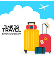 time to travel background for ads social network vector image