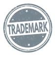 trademark grunge rubber stamp vector image