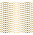 trendy simple seamless zig zag golden geometric vector image vector image