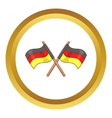 Two crossed flags of Germany icon vector image vector image