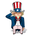 Uncle Sam Saluting vector image vector image