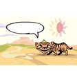 Walking Tiger vector image vector image