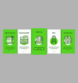 water treatment items onboarding vector image