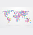 world map made up of small colorful dots vector image vector image