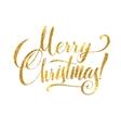 Gold Merry Christmas Card Golden Shiny Glitter vector image