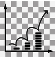 growth graph icon vector image