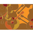 Seamless pattern with acoustic guitar abstract vector image