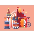 Circus tent design vector image