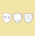 heraldic shields vintage elements decorative set vector image
