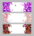 abstract banner template set with colored dots vector image vector image