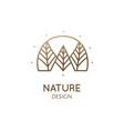 abstract minimal logo landscape vector image vector image