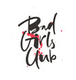 bad girls club lettering vector image vector image
