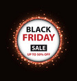black friday poster with round frame vector image