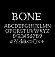 Bones font halloween abc type uppercase alphabet