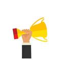 business goal achievement concept flat style vector image vector image