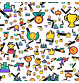 champion prizes seamless color pattern vector image vector image