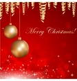 christmas background with baubles and christmas vector image vector image