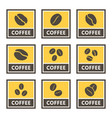 coffee icons and signs set for cafes and shops vector image vector image