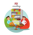 colorful psychological training concept vector image vector image