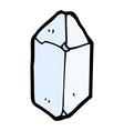 comic cartoon crystal vector image