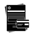 document contract credict card vector image vector image