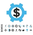 Financial Settings Flat Icon With Bonus vector image