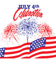 fireworks background for 4th july independence vector image vector image